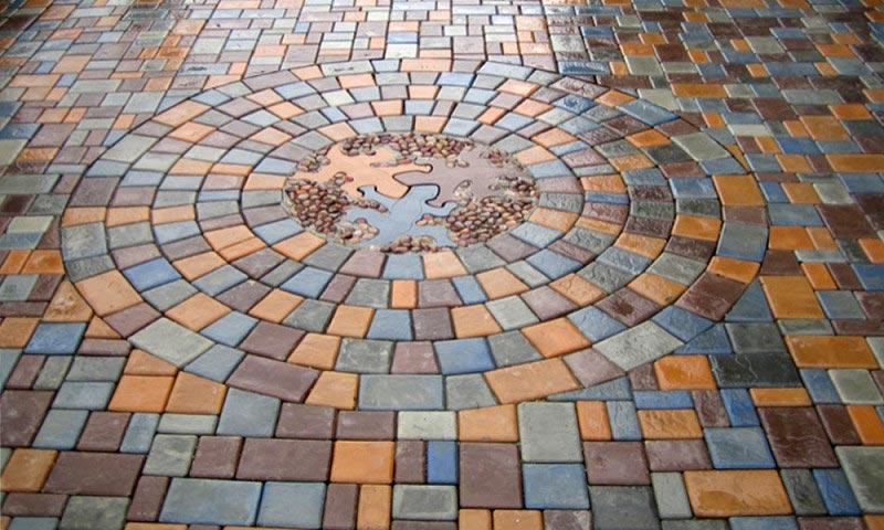 вибролитая тротуарная плитка брук римская мостовая-2