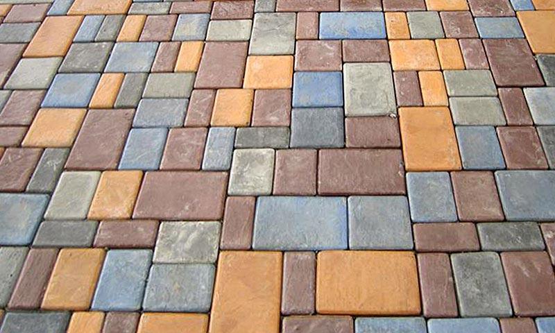вибролитая тротуарная плитка брук римская мостовая-3