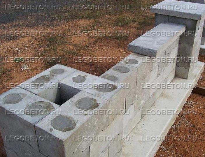 Металлопластиковая форма для замковых блоков (стеновых)