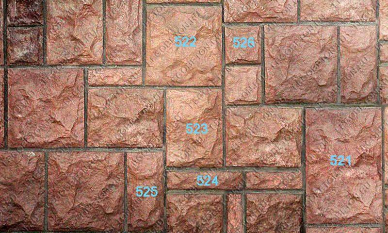 Комплект пластиковых форм для отделочного камня