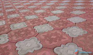 форма для плитки краковский клевер комплект (большой и малый)