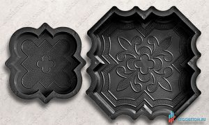купить форма краковский клевер комплект для изготовления тротуарной плитки