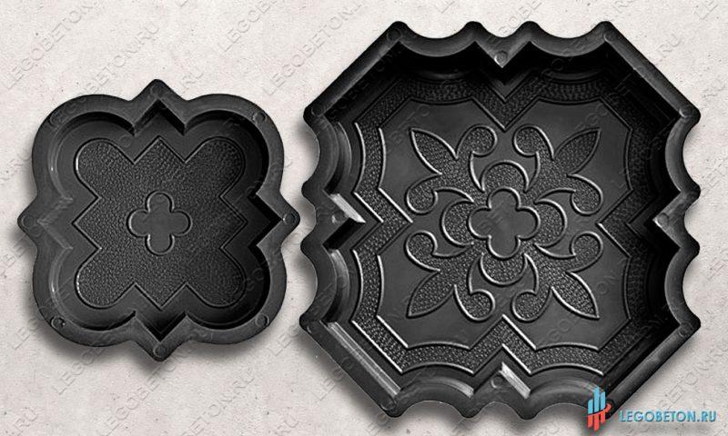 форма краковский клевер комплект для изготовления тротуарной плитки