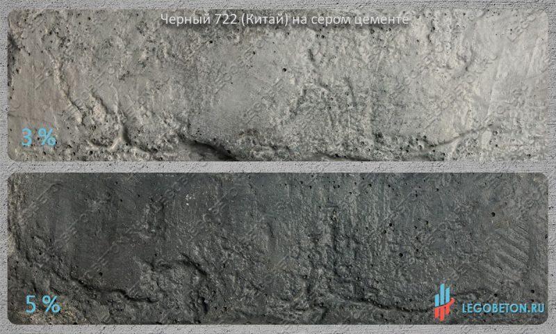 окраска серого бетона черным пигментом 722 (китай)