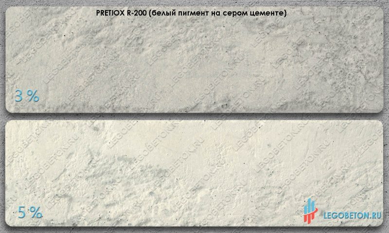 окраска серого бетона диоксидом титана Pretiox R200-m
