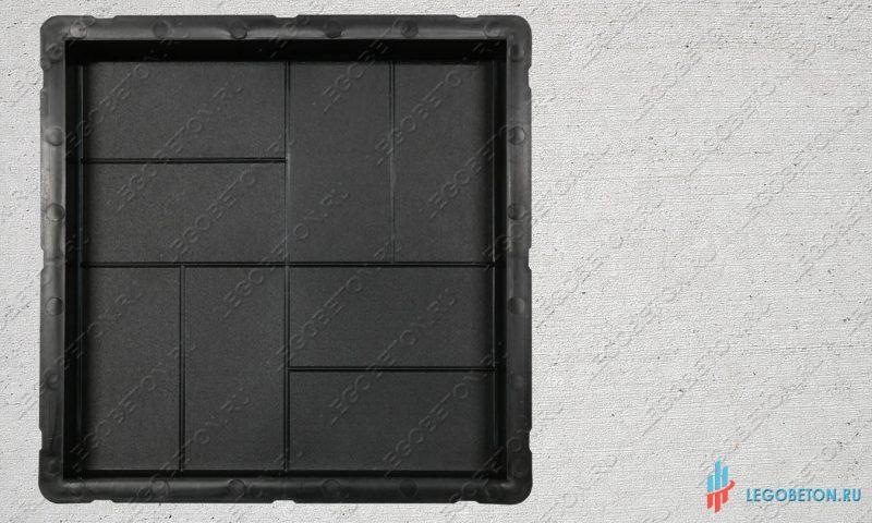 форма для тротуарной плитки 8 кирпичей 30х30х3