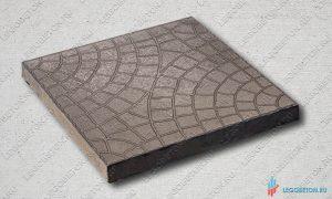 форма для тротуарной плитки квадрат мозаика (паутинка) 30х30 (71/6) купить со склада в москве