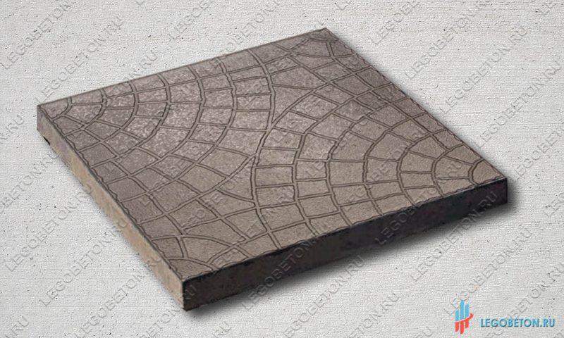 форма для тротуарной плитки квадрат мозаика (паутинка) 30х30 (71/6)
