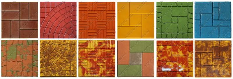цветная тротуарная плитка Легобетон