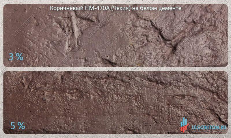 окраска белого бетона коричневым пигментом HM-470A (чехия)