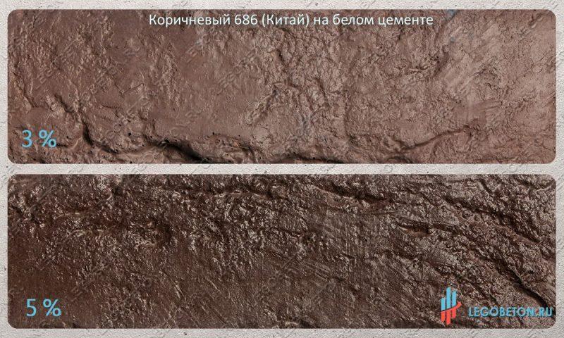 окраска белого бетона коричневым пигментом 686 (китай)