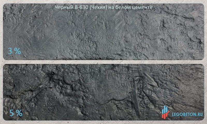 окраска белого бетона черным пигментом Fepren B-630