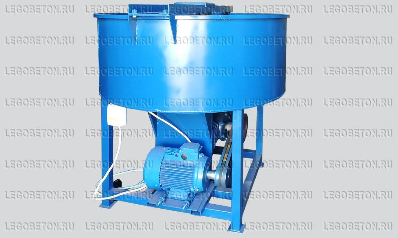 Принудительный бетоносмеситель  РПДВ-350 вертикальный