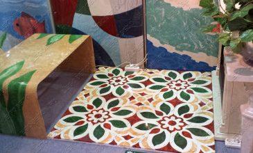 панно из цветного бетона, вибролитые стеновые панели, технология окраски бетона систром, технология окраски sistrom