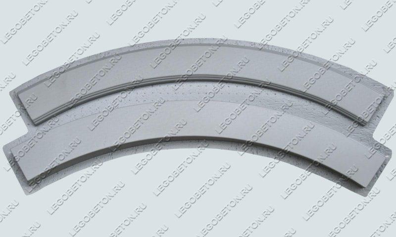 форма перила радиусные из бетона