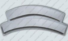 форма радиусные перила балясин, пластиковая форма радиусная тетива балясин, радиусная основа балясин из бетона