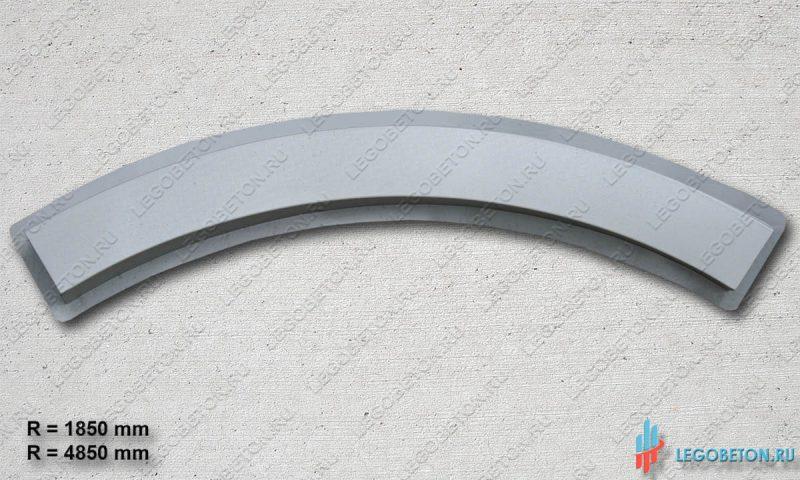 форма радиусного основания (тетивы) балюстрады из бетона