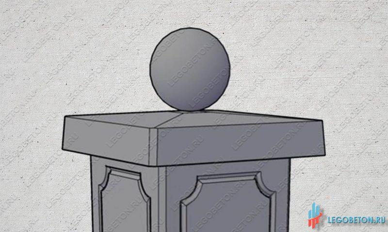 шар на крышку столба-2