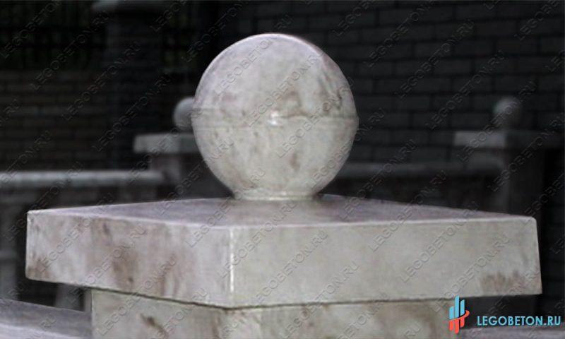 шар на крышку столба-5