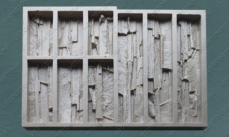 Форма для плитки под искусственный камень «Сланец фигурный» LB010-02