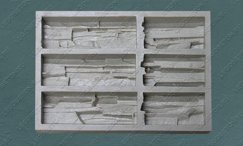Форма для плитки под искусственный камень «Сланец фигурный (угол)» LB013-01