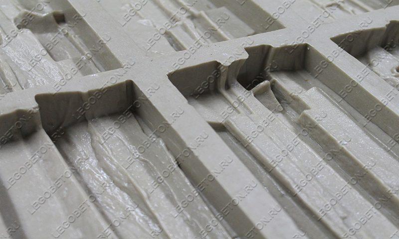Форма для плитки под искусственный камень «Сланец фигурный (угол)» LB013-02