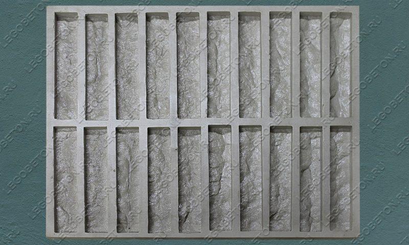Форма для плитки под кирпич «Известняк торцованный» LB030-02
