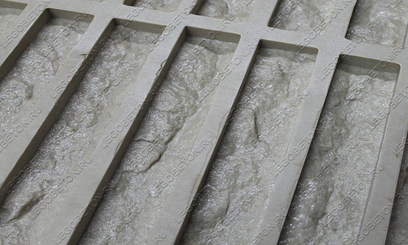 Форма для плитки под кирпич «Известняк торцованный» LB030-03
