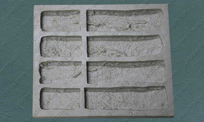 Форма для плитки под кирпич «Старый камень» (угол)