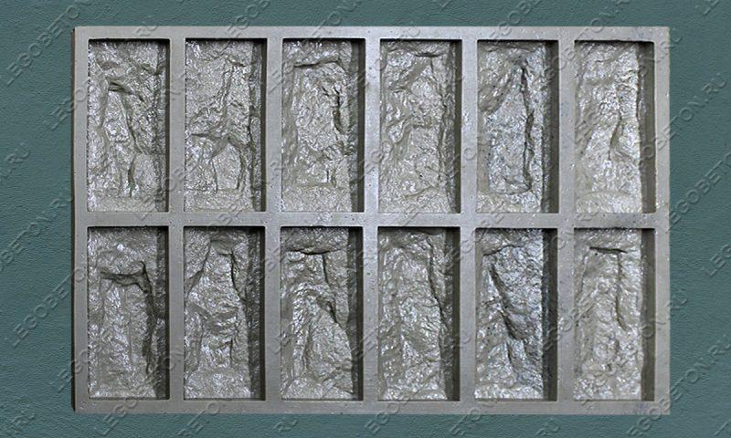 Форма для плитки под декоративный камень «Акко — 1» LB070-00