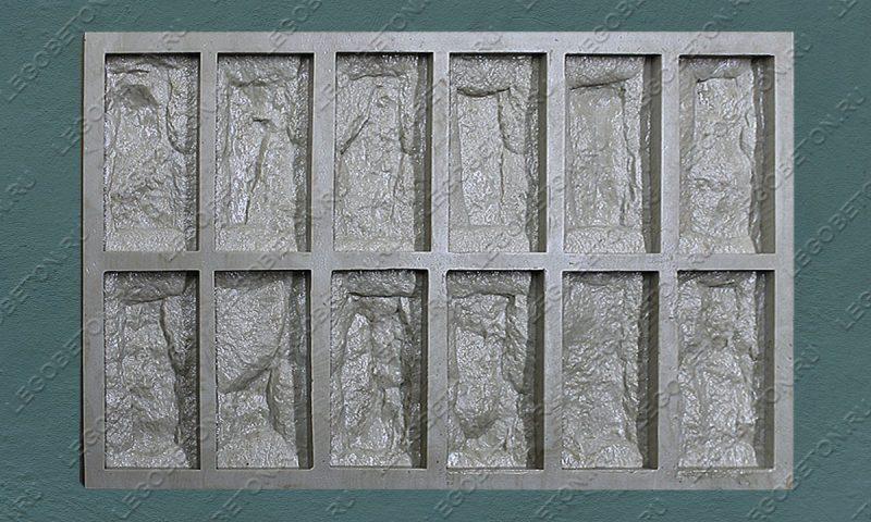 Форма для плитки под декоративный камень «Акко — 2» LB071