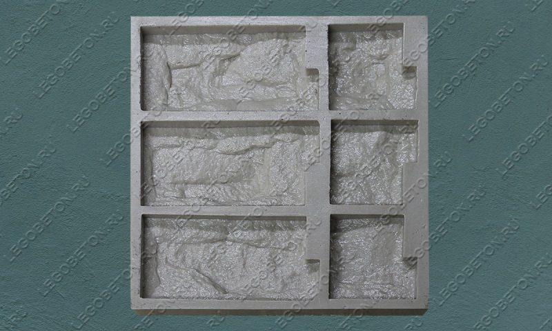 Форма для плитки под декоративный камень «Акко (угол)» LB074