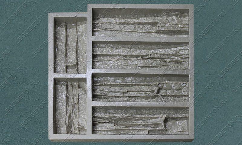 Форма для плитки под искусственный камень «Известняковая груда — 3» LB122