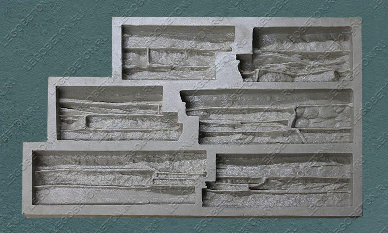 Форма для плитки под искусственный камень «Известняковая груда (угол)» LB123