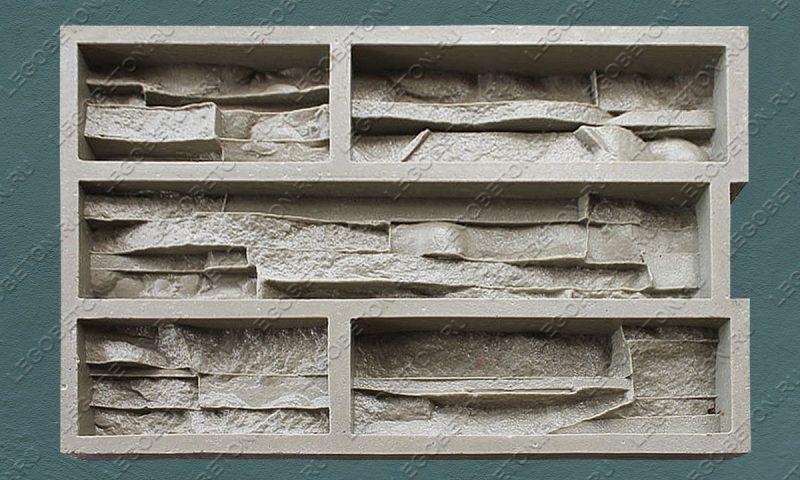 Форма для плитки под искусственный камень «Тонкий пласт — 1» LB180-02