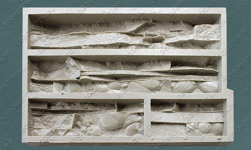Форма для плитки под искусственный камень «Тонкий пласт — 3» LB182-01