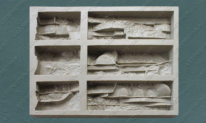 Форма для плитки под искусственный камень «Тонкий пласт (угол)» LB183