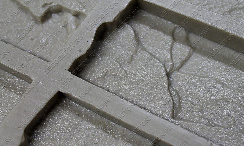 Форма для плитки под кирпич «Колотый» (угол) LB203-01