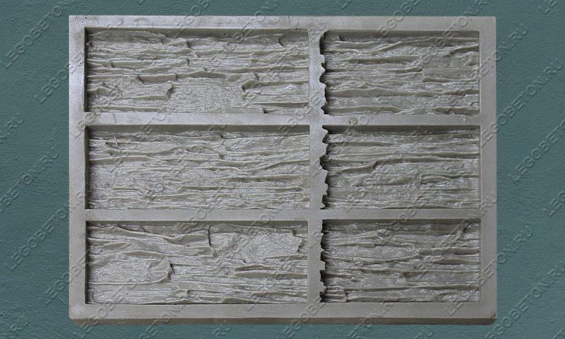 Форма для плитки под искусственный камень «Мелкий сланец (угол)» LB213-01