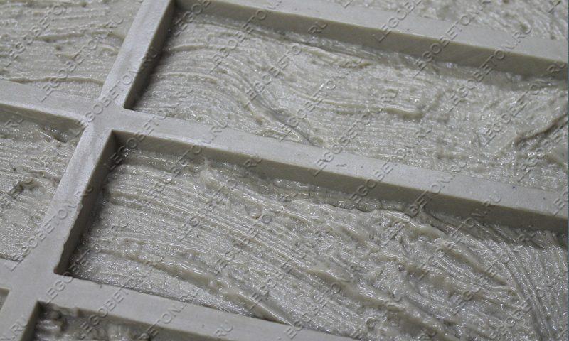 Форма для плитки под кирпич «Древесная кора» (большая) LB260-04
