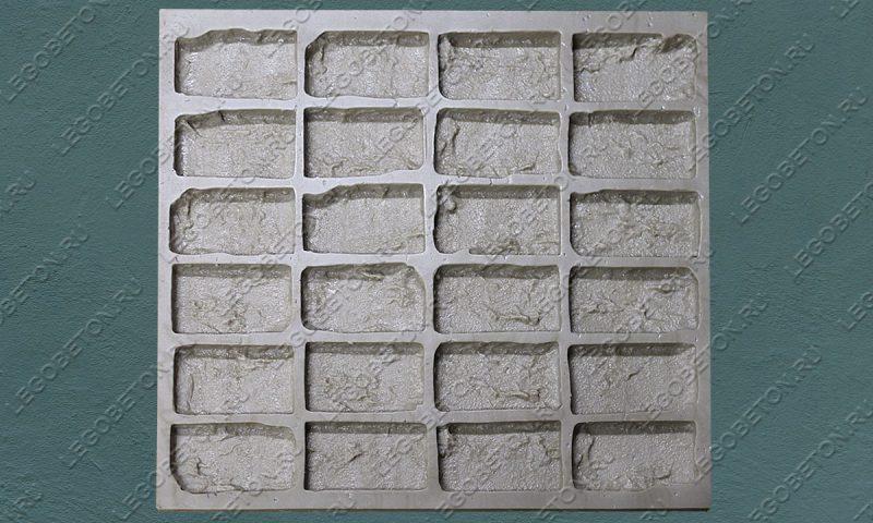 Форма для плитки под кирпич «Манхэттен» (половинка) LB555