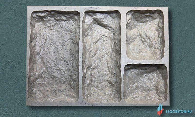 резиновая форма для изготовления искусственного камня Бут-1
