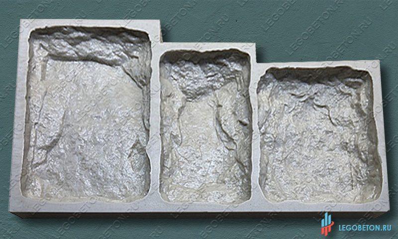 гибкая форма для изготовления искусственного камня Бут-3