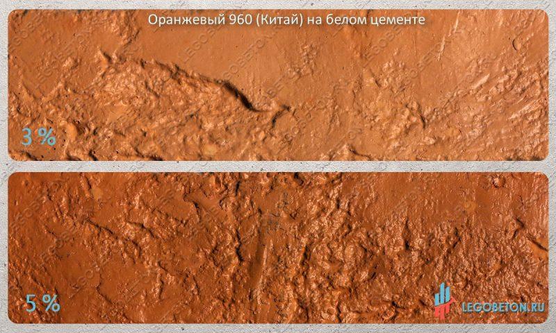 окраска белого бетона оранжевым пигментом 960 (китай)