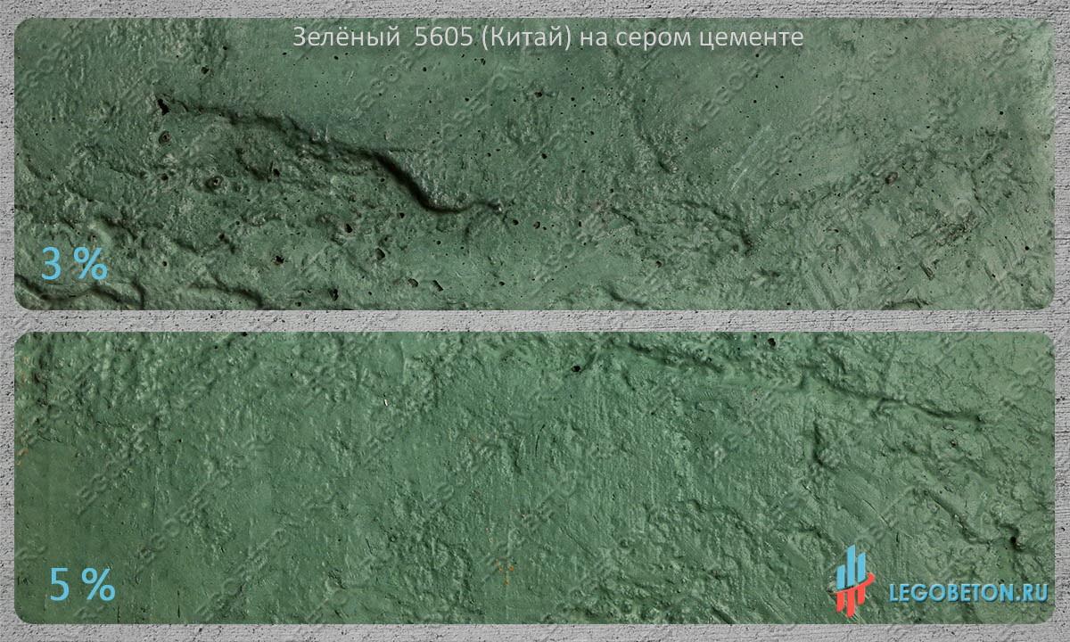 зеленый бетон китай