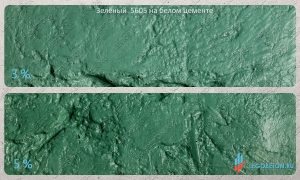 окраска белого бетона зеленым пигментом 5605 купить в москве