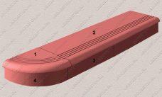 комплект форм ступени из бетона №2, пластиковые формы для изготовления ступени из бетона №2
