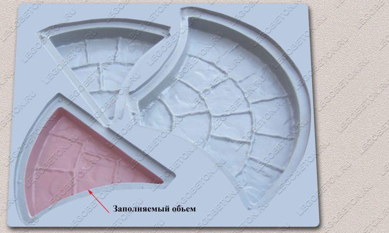 Форма «Комплект брусчатки «Веер» [3ф ] » FR118.1-1