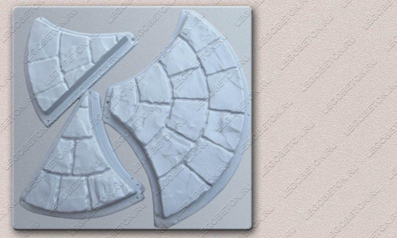 Форма «Комплект брусчатки «Веер» [3ф ] » FR118.1-3