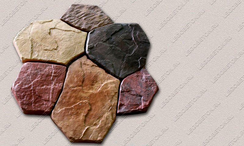 Форма «Комплект камней «Каменная роза»» FR119.1-2